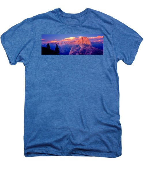 Sunlight Falling On A Mountain, Half Men's Premium T-Shirt by Panoramic Images