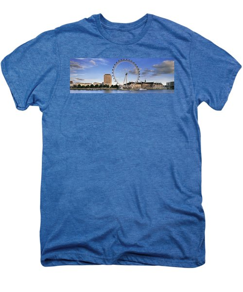 The London Eye Men's Premium T-Shirt by Rod McLean