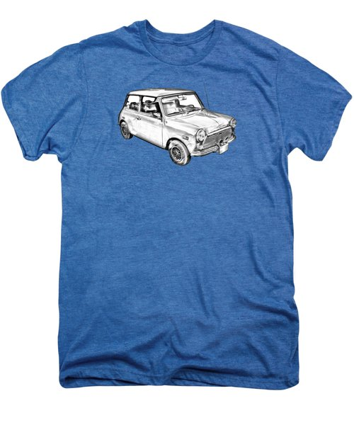 Mini Cooper Illustration Men's Premium T-Shirt by Keith Webber Jr