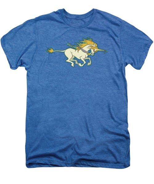 Charging Unicorn Men's Premium T-Shirt by J L Meadows
