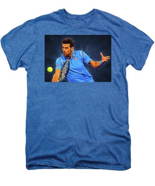 Novak Djokovic Men's Premium T-Shirt by Semih Yurdabak