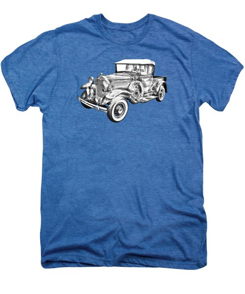 1930 Ford Model A Pickup Truck Illustration Men's Premium T-Shirt by Keith Webber Jr