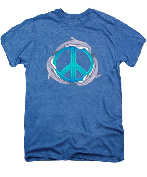 Dolphin Peace Men's Premium T-Shirt by Chris MacDonald