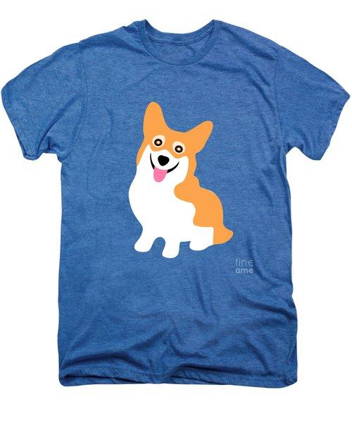 Smiling Corgi Pup Men's Premium T-Shirt by Antique Images