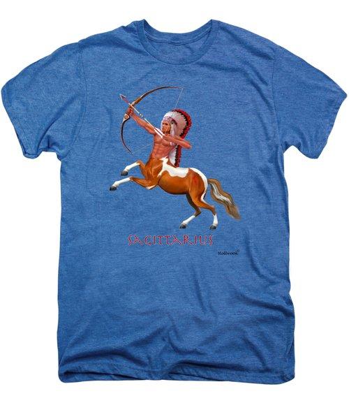 Native American Sagittarius Men's Premium T-Shirt by Glenn Holbrook