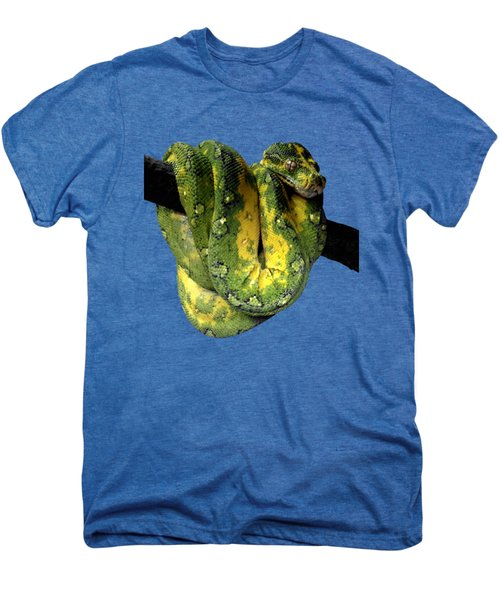 Green Tree Python 2 Men's Premium T-Shirt by Alondra Hanley