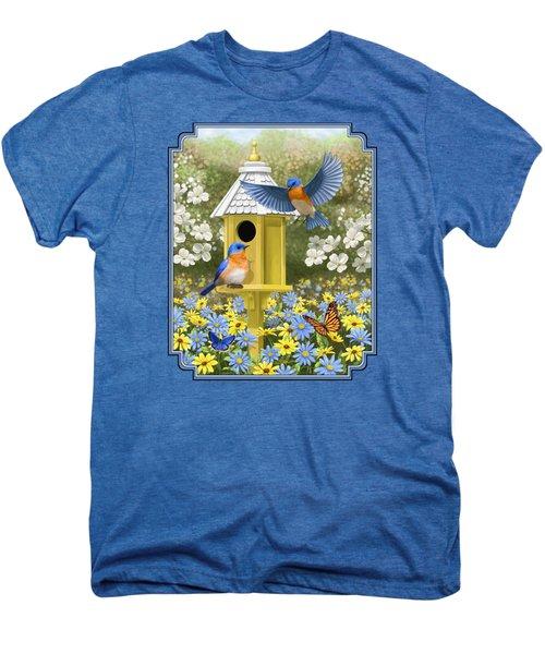 Bluebird Garden Home Men's Premium T-Shirt by Crista Forest