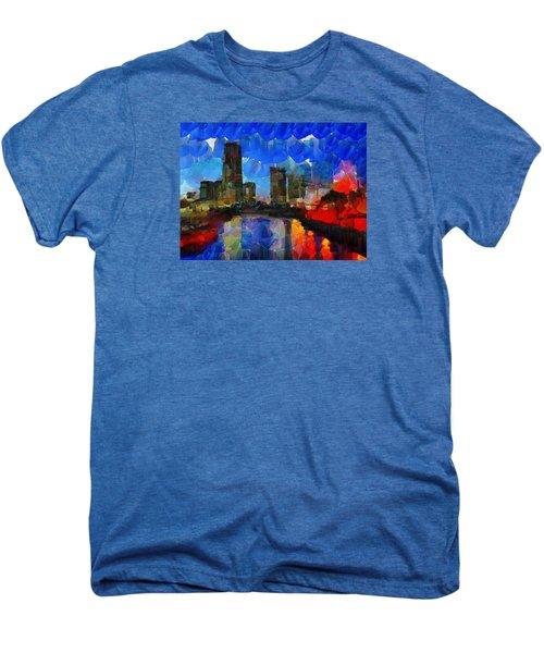 City Living - Tokyo - Skyline Men's Premium T-Shirt by Sir Josef Social Critic - ART