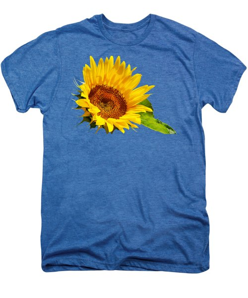 Color Me Happy Sunflower Men's Premium T-Shirt by Christina Rollo
