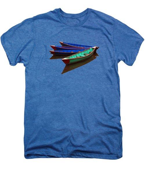 Colourful Fishing Boats  Men's Premium T-Shirt by Aidan Moran
