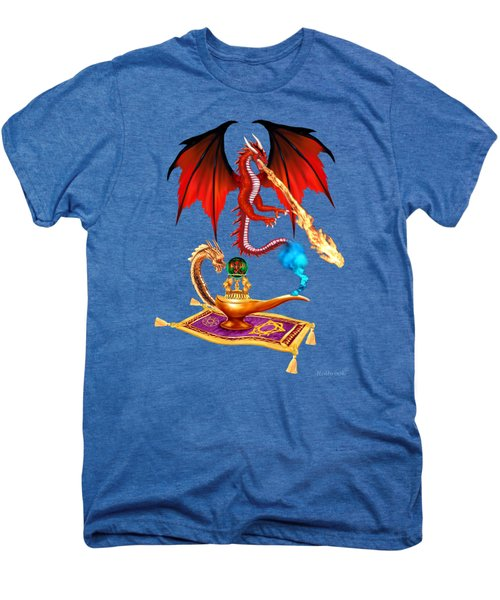 Dragon Genie Men's Premium T-Shirt by Glenn Holbrook