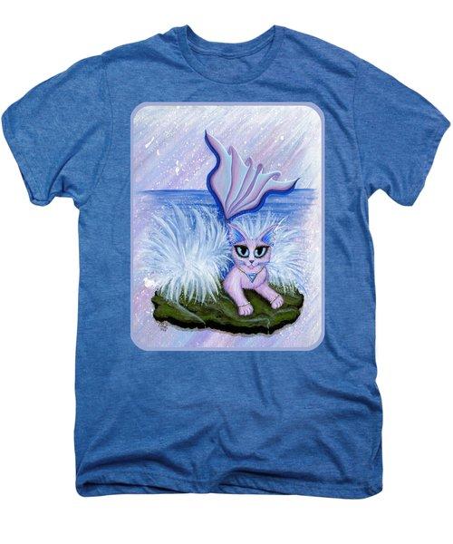 Elemental Water Mermaid Cat Men's Premium T-Shirt by Carrie Hawks