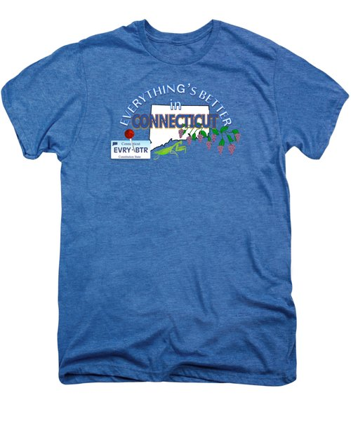 Everything's Better In Connecticut Men's Premium T-Shirt by Pharris Art