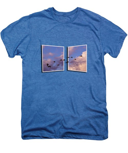 Flying Across Men's Premium T-Shirt by Roger Wedegis