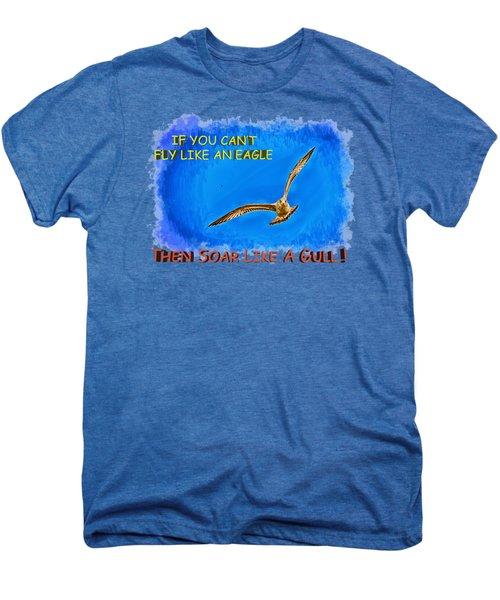 Flying Gull Men's Premium T-Shirt by John M Bailey