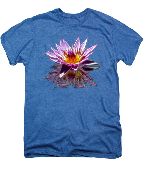 Glowing Lilly Flower Men's Premium T-Shirt by Shane Bechler