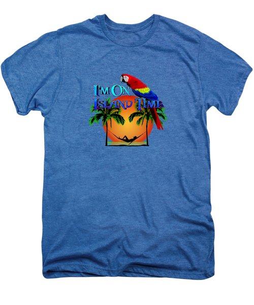 Island Time And Parrot Men's Premium T-Shirt by Chris MacDonald