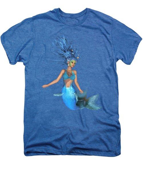 Mermaid Ruby Blue Men's Premium T-Shirt by Diane Leenknegt