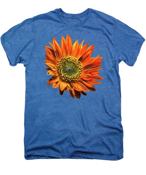 Orange Sunflower Men's Premium T-Shirt by Christina Rollo