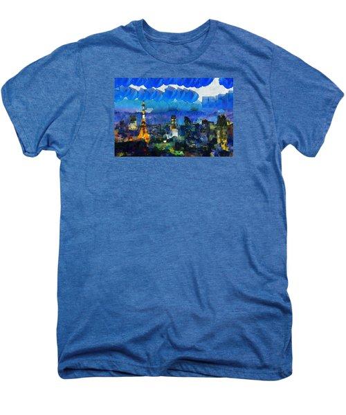 Paris Inside Tokyo Men's Premium T-Shirt by Sir Josef Social Critic - ART