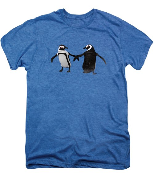 Penguin Dance Men's Premium T-Shirt by Methune Hively