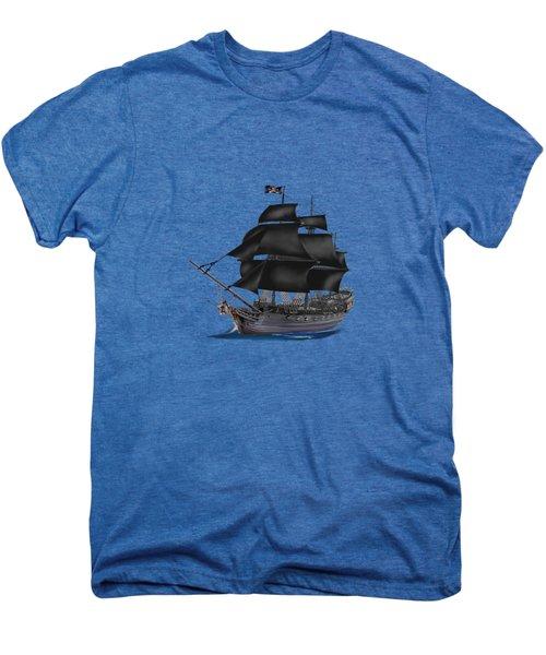 Pirate Ship At Sunset Men's Premium T-Shirt by Glenn Holbrook