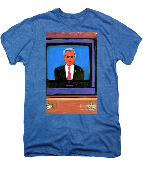 President George Bush Debate 2004 Men's Premium T-Shirt by Candace Lovely