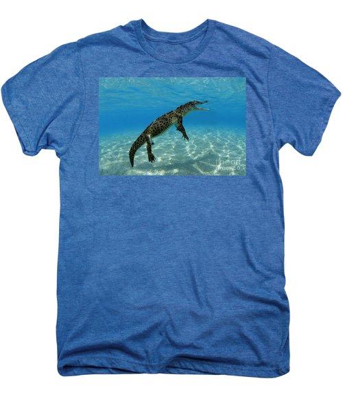 Saltwater Crocodile Men's Premium T-Shirt by Franco Banfi and Photo Researchers