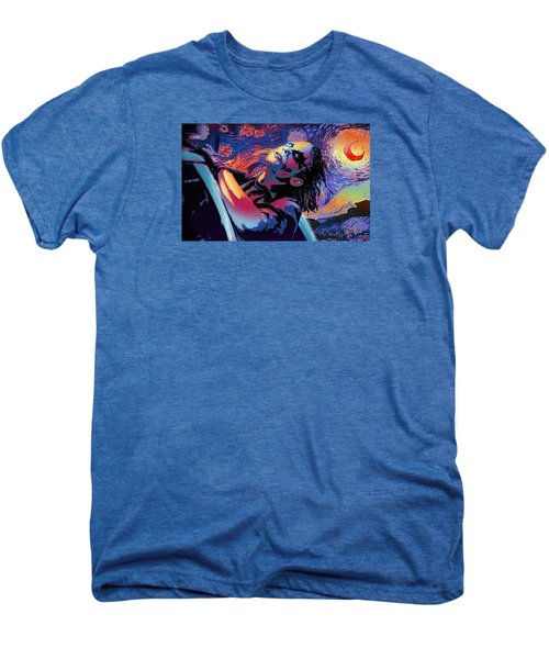 Serene Starry Night Men's Premium T-Shirt by Surj LA