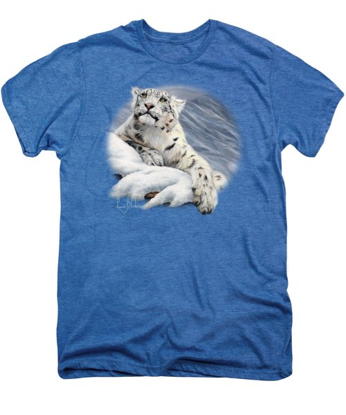 Snow Leopard Men's Premium T-Shirt by Lucie Bilodeau