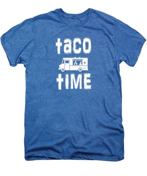Taco Time Food Truck Tee Men's Premium T-Shirt by Edward Fielding