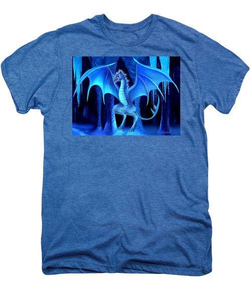 The Blue Ice Dragon Men's Premium T-Shirt by Glenn Holbrook
