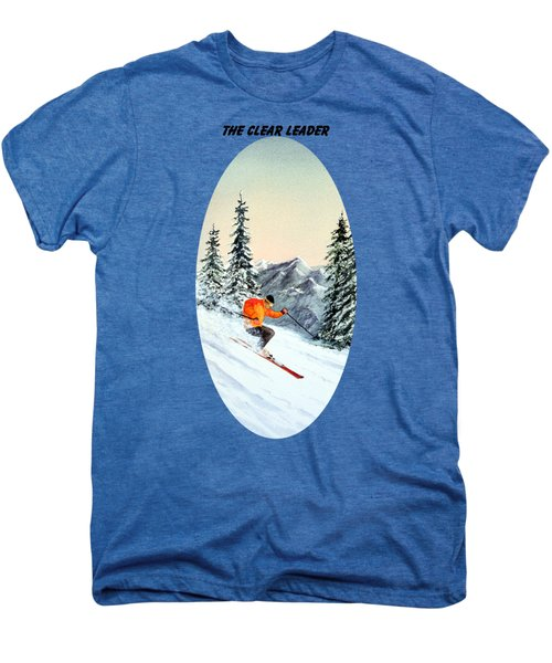 The Clear Leader Skiing Men's Premium T-Shirt by Bill Holkham