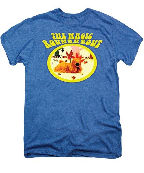The Magic Roundabout Retro Design Hippy Design 60s And 70s Men's Premium T-Shirt by Paul Telling