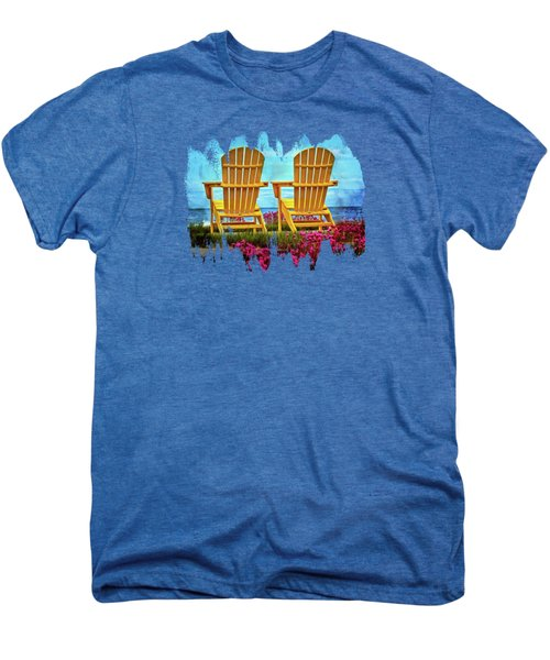 The Yellow Chairs By The Sea Men's Premium T-Shirt by Thom Zehrfeld