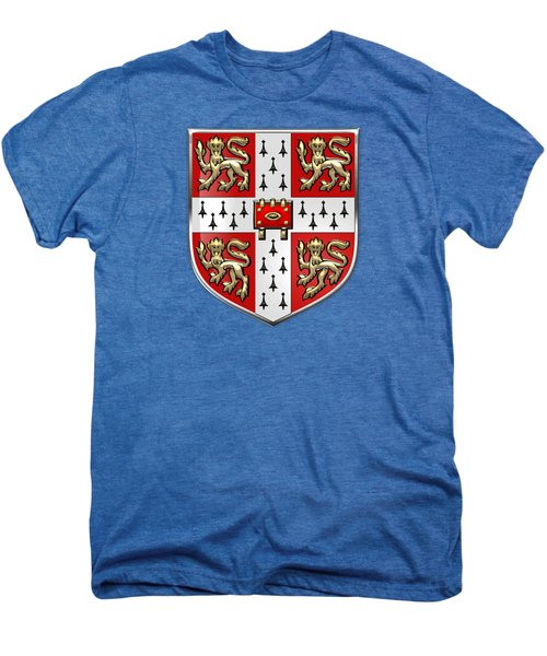 University Of Cambridge Seal - Coat Of Arms Over Colours Men's Premium T-Shirt by Serge Averbukh