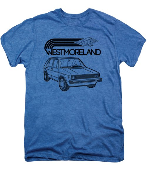 Vw Rabbit - Westmoreland Theme - Black Men's Premium T-Shirt by Ed Jackson