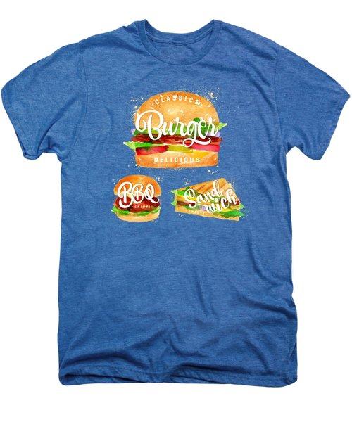 White Burger Men's Premium T-Shirt by Aloke Design