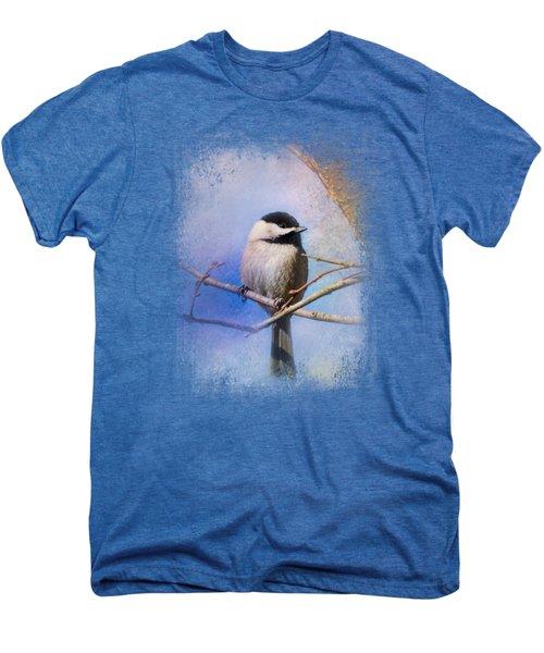 Winter Morning Chickadee Men's Premium T-Shirt by Jai Johnson