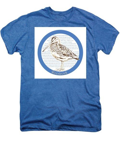 Woodcock Men's Premium T-Shirt by Greg Joens