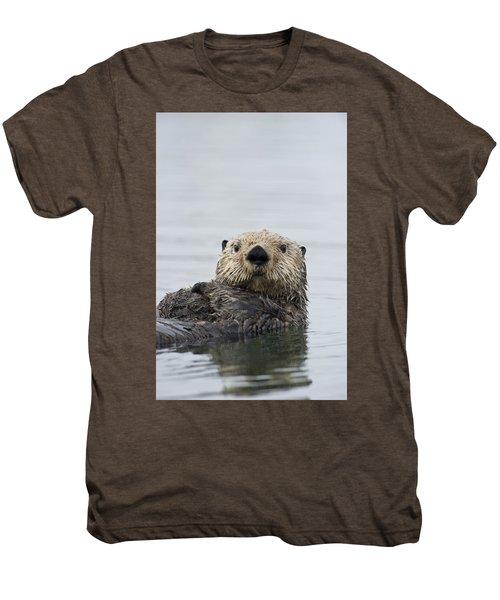 Sea Otter Alaska Men's Premium T-Shirt by Michael Quinton
