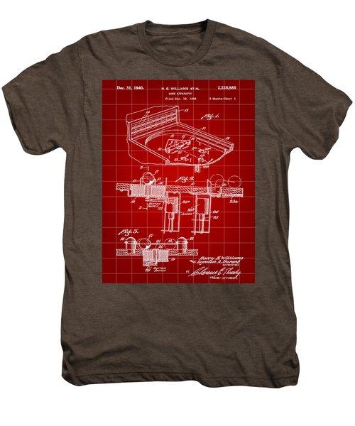 Pinball Machine Patent 1939 - Red Men's Premium T-Shirt by Stephen Younts