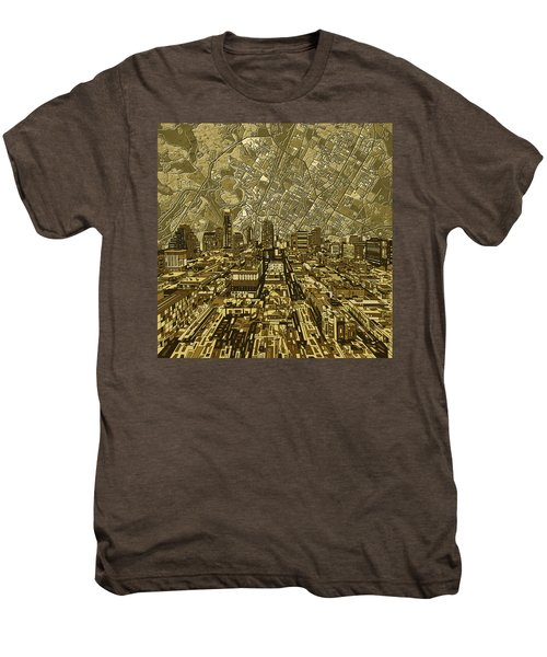Austin Texas Vintage Panorama Men's Premium T-Shirt by Bekim Art