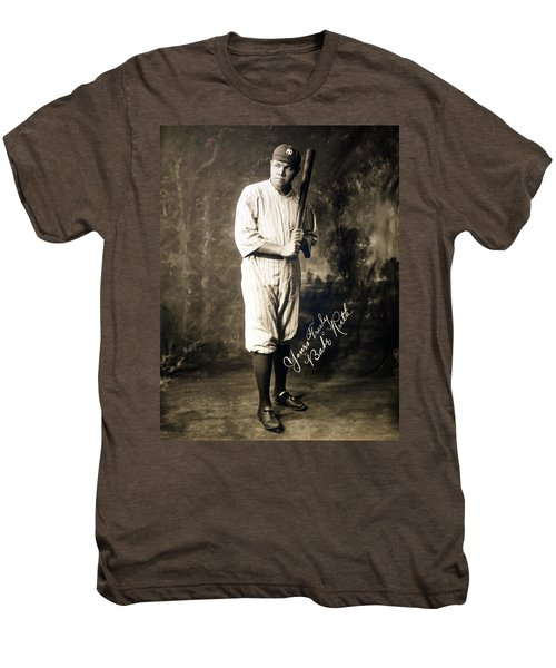 Babe Ruth 1920 Men's Premium T-Shirt by Mountain Dreams
