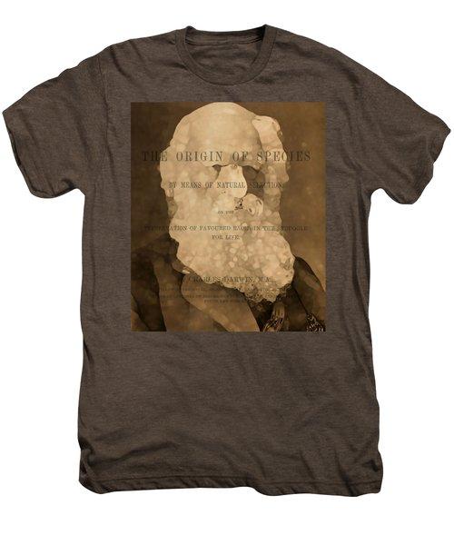 Charles Darwin The Origin Of Species Men's Premium T-Shirt by Dan Sproul