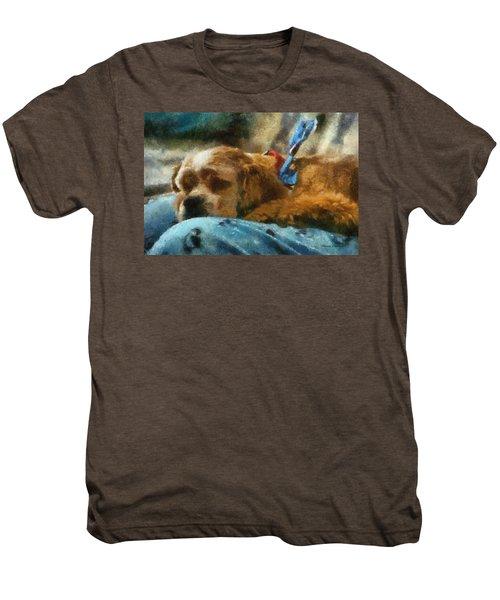 Cocker Spaniel Photo Art 07 Men's Premium T-Shirt by Thomas Woolworth