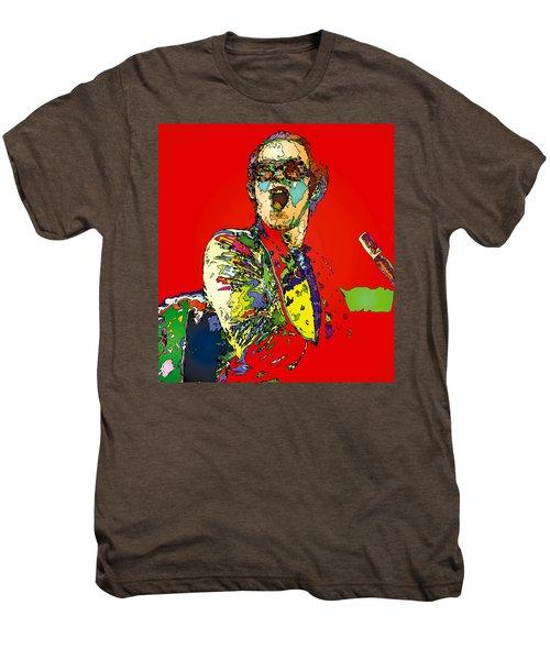 Elton In Red Men's Premium T-Shirt by John Farr