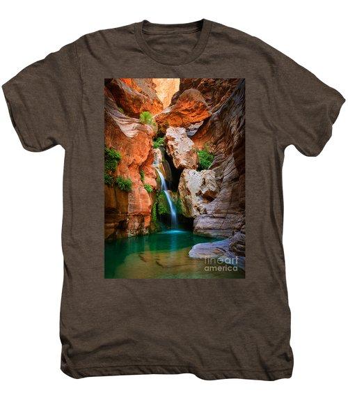 Elves Chasm Men's Premium T-Shirt by Inge Johnsson