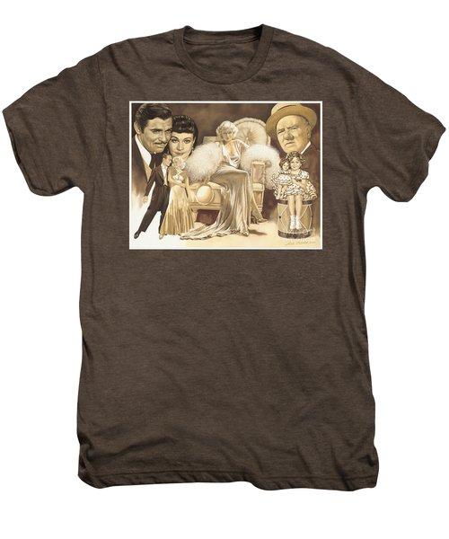 Hollywoods Golden Era Men's Premium T-Shirt by Dick Bobnick