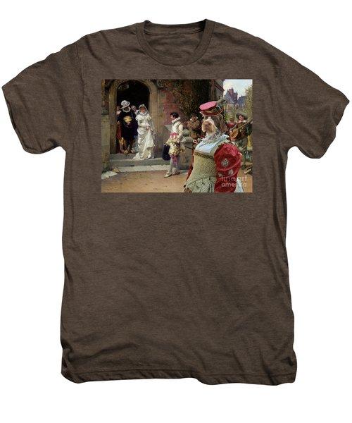 Korthals Pointing Griffon Art Canvas Print Men's Premium T-Shirt by Sandra Sij